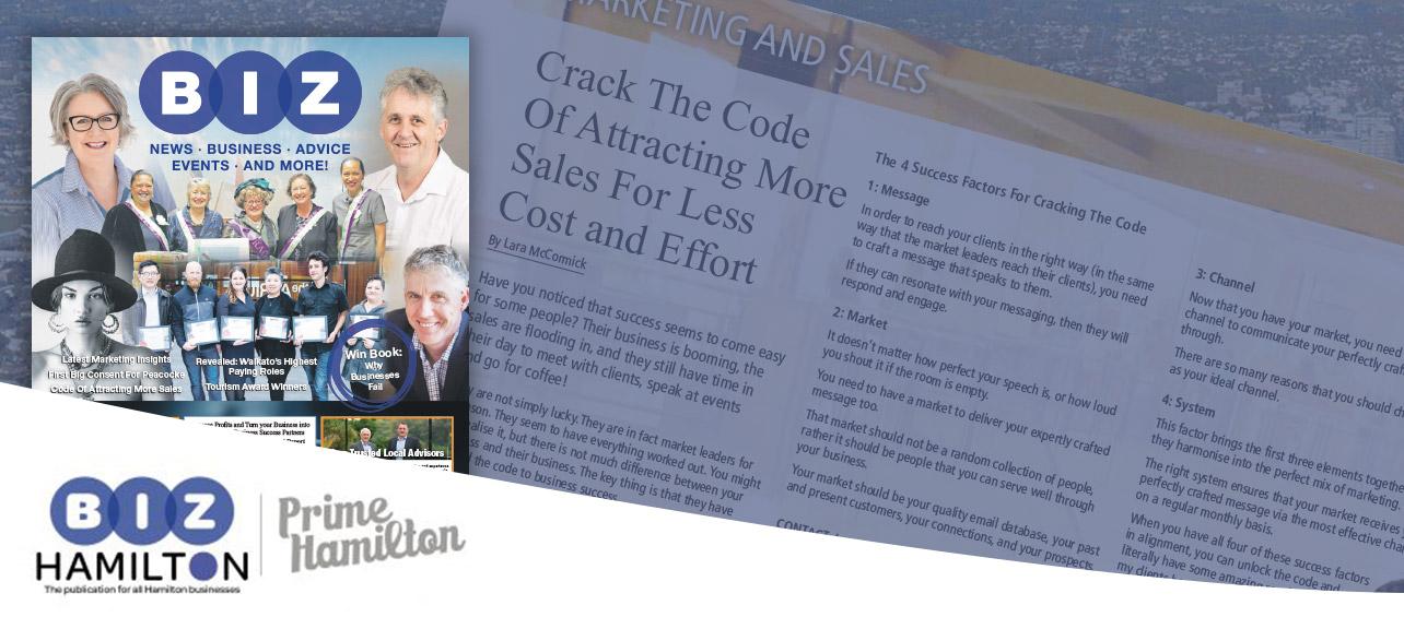 Our Biz Hamilton Featured Article: Crack the Code